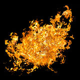 红色火焰 在拼贴画的火舌头 库存照片