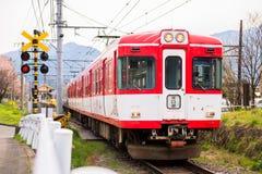 红色火车 免版税库存照片