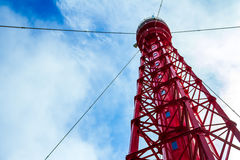 红色灯塔 库存图片
