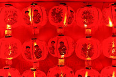 红色灯笼在晚上 库存图片