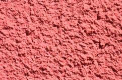 红色灰泥墙壁 免版税库存照片