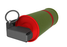 红色烟手手榴弹 免版税图库摄影