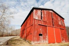 红色烟草谷仓 库存图片