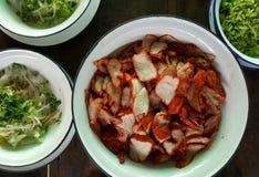 红色烤猪肉,红色烤了猪肉 库存照片