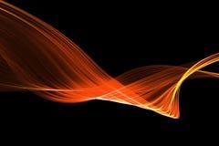 红色焕发能量波浪 光线影响与c的摘要背景 免版税库存照片