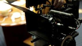 红色照相机在使用中 影视素材