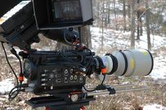 红色照相机300mm教规透镜 免版税图库摄影