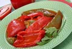 红色煮沸的青椒 免版税库存图片