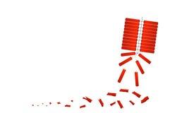 红色爆竹庆祝农历新年 免版税库存图片