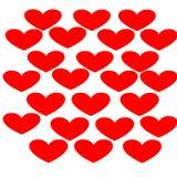红色爱心脏有白色背景-情人节 免版税库存图片