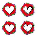 红色爱心脏标志 免版税图库摄影