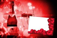 红色爱心脏的综合图象 免版税库存照片