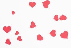 红色爱重点背景。 免版税库存照片
