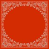 红色牛仔方巾 免版税图库摄影