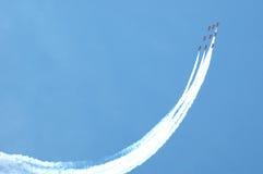 红色特技飞行的箭头 库存照片