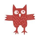 红色猫头鹰 库存照片