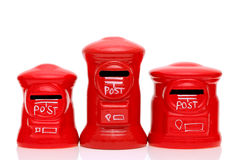 红色玩具岗位箱子 免版税库存照片