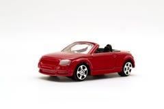 红色玩具跑车 库存照片