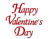 红色玫瑰在词愉快的Valentine's天被隔绝的花集合 图库摄影