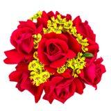 红色玫瑰婚礼花束 免版税库存照片