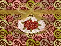 红色玫瑰漩涡葡萄酒 图库摄影