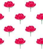 红色玫瑰简单的样式传染媒介 皇族释放例证