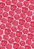 红色玫瑰色墙纸 向量例证