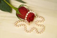 红色玫瑰色婚礼 库存图片