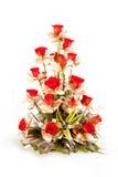红色玫瑰色花花束  库存照片