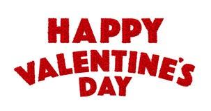 红色玫瑰花在词愉快的Valentine's天设置了 免版税库存照片