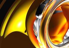 红色环形黄色 免版税库存照片