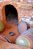 红色瓦器窑 图库摄影