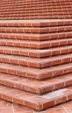 红色瓦片台阶 免版税库存照片