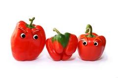 红色甜椒家庭 免版税库存照片