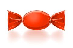 红色甜糖果传染媒介例证 免版税库存照片