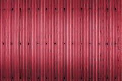 红色生锈的波状钢金属纹理 免版税库存图片