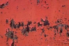红色生锈的金属和油漆背景 库存照片