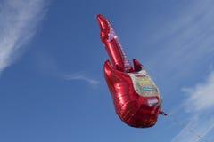 红色电吉他气球 库存图片