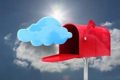 红色电子邮件邮箱的综合图象 图库摄影