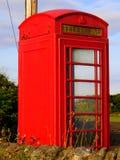 红色电话亭 免版税库存照片
