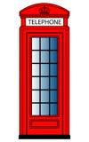 红色电话亭 皇族释放例证