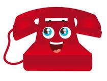 红色电话动画片 免版税图库摄影