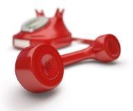 红色电话报告人 免版税图库摄影
