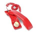 红色电话机 库存照片