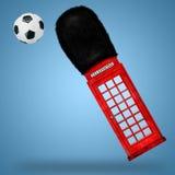 红色电话箱子 库存图片