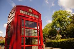 红色电话配件箱 免版税库存图片