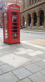 红色电话配件箱 免版税库存照片