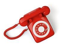 红色电话 库存例证