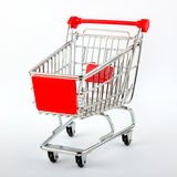 红色界面购物车 库存图片