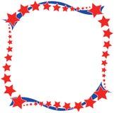 红色白色一个蓝星边界 免版税图库摄影